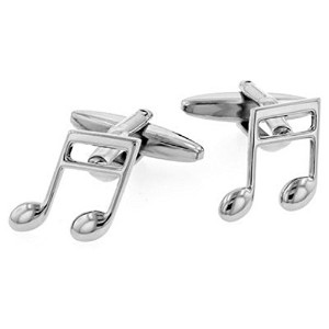 Quaver Music Note Cufflinks