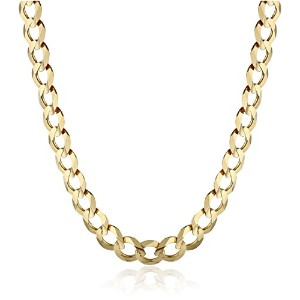"Curated 14k Yellow Gold 5.7mm Cuban Chain Necklace, 22"" IMDOAF5-22-YG メンズ [並行輸入品]"