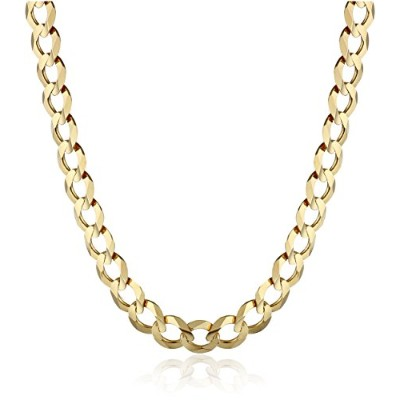 """Curated 14k Yellow Gold 5.7mm Cuban Chain Necklace, 22"""" IMDOAF5-22-YG メンズ [並行輸入品]"""