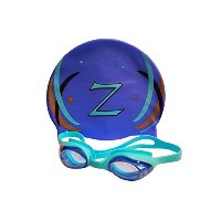 Zagaboo Swim Cap and Zoggles (ブルー)