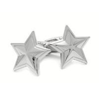Colonial Silver Star Cufflinks by Jewelry Mountain