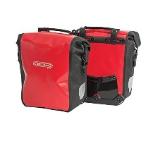 Ortlieb Front-Roller City Front Pannier: Pair; Red/Black [並行輸入品]