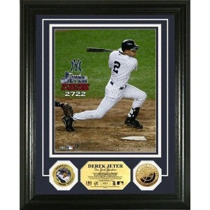 The Highland Mint(ハイランドミント) MLB ニューヨーク・ヤンキース デレク・ジーター Yankees All Time Hit Record 24KT Gold Coin...