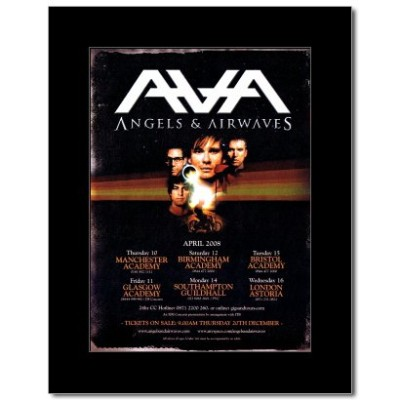 ANGELS AND AIRWAVES - UK Tour 2008 Mini Poster - 28.5x21cm