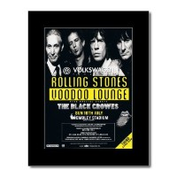 ROLLING STONES - Voodoo Lounge - Wembley 16th July 1995 Mini Poster - 28.5x21cm