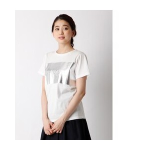 《musee》シャイニーロゴプリントTシャツ【マルシェ ド クリアインプレッション/MARCHE de CLEAR IMPRESSION レディス Tシャツ・カットソー オフホワイト1 ルミネ...