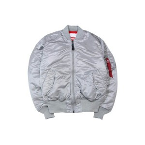 ALPHA BLOOD CHIT MA-1 JKT(MJM21300C1/NEW SILVER×RED LINING)アルファ/MA-1フライトジャケット/グレー