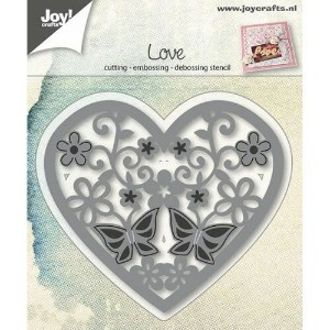 【6002-0664】Joy! Crafts/ジョイ・クラフツ/ダイ/Heart with flowers butterfly ハート 花 蝶 Embossing and Debossing...