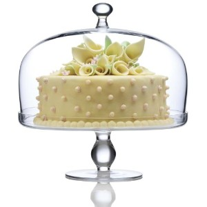 【送料無料】【Luigi Bormioli Michelangelo Masterpiece Footed Cake Plate with Dome Cover by Luigi Bormioli】