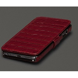 Sena Genuine Leather Wallet Book Classic Case for Iphone 6 Plus / 6s Plus (5.5 -Inch) Croco Red ...