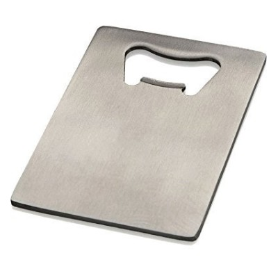 Credit Card Bottle Opener for Your Wallet - Stainless Steel by GiftGuys
