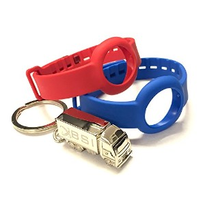 BSI Set 1pc Blue and 1pc Red Colors Replacement Straps for Jawbone UP Move Only /No tracker/...