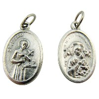 Saint Gerard with our Lady of Perpetual Help 1-inchシルバーベースMedal