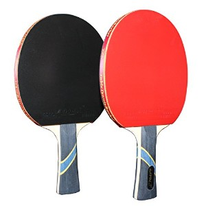 Mapol 4スターTable Tennis Paddle Advanced Trainning Ping Pong Racket with Carryケース( 2個入り)