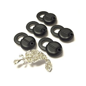 BSI 5pcs Large Replacement Eargels Buds for Aliph Jawbone ERA Smokescreen Midnight Shadowbox, Black...
