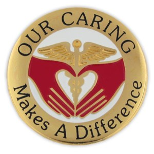 Pinmart 's Our caring Makes a Difference Nurseラペルピン 50