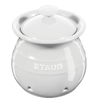 Staub Ceramic Garlic Keeper - White by Staub