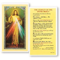 Divine MercyラミネートHolyカードBlessed by his Holiness Pope Francis