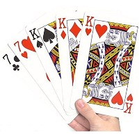 TRIXES 86mm x 122mm Large Playing Cards 52カードデッキと2つのジョーカー
