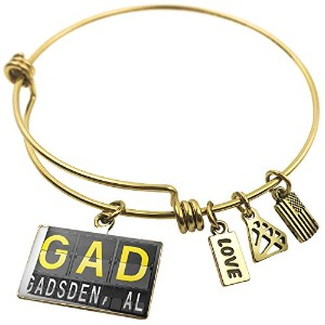 Expandable Wire Bangle braceletgadガズデンの空港コード、NEONBLOND