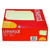 File Folders, 1/3 Cut Assorted, Two-Ply Top Tab, Letter, Manila, 100/Box (並行輸入品)