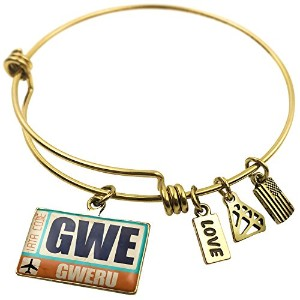Expandable Wire Bangleブレスレット空港コードGWE Gweru、NEONBLOND