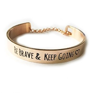 beichong Be Brave And Keep GoingメッセージブレスレットEngraved Cuffファッションブレスレット