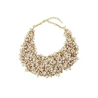Gold Toned Faux Pearl Clusterネックレス