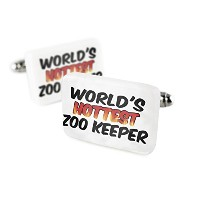 Cufflinks Worlds Hottest Zoo Keeper磁器セラミックNEONBLOND