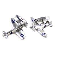mendepotチェーンSpitfire Cufflinks inボックスSpitfire and Royal Air ForceロゴチェーンCufflinks withボックス