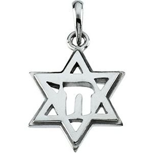 STAR OF DAVID Medal with Chai