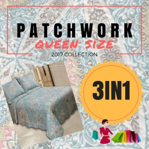 100% Patchwork Bed Sheet Set SUPER QUEEN!! (Suite For King Queen Size Bed)