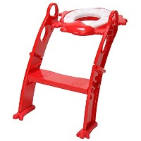 KARIBU カリブ Frog Shape Cushion Potty Seat with Ladder RED レッド PM2697 補助便座 [並行輸入品]