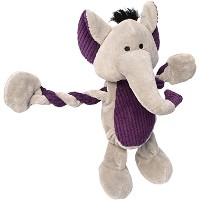 Charming Pet Products Pulleez Elephant Plush Dog Toy by Charming