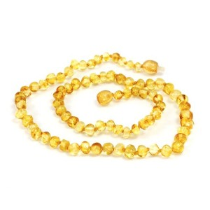Momma Goose Teething Necklace, Lemon, 21 by Momma Goose