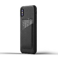 Mujjo 【Full Leather Wallet Case    iPhone 8用  ブラック】 Full Leather Wallet Case for iPhone X - Black...