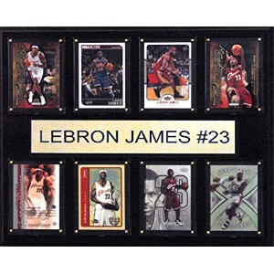 NBA Cleveland Cavaliers Lebron James 8-card Plaque、12 x 15インチ