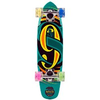 "SECTOR9(セクターナイン) ミニクル-ザ-グローウイールシリ-ズ GLOW WHEEL SERIES THE STEADY COMPLETE 25""L 6.75""W BLUE"