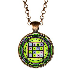 """Solomons 1st Pentacle of the Saturn to make people submit to your wishes 1""""アンティーク銅ペンダント"""
