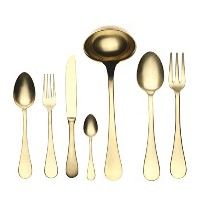 Mepra 51-piece Vintage Oro Serving Set