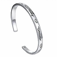 Friends Forever Today Tomorrow Inspirational Open Cuffバングルブレスレットの女性