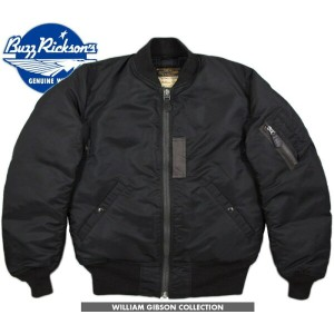BUZZ RICKSON'S/バズリクソンズ JACKET, FLYING, INTERMEDIATE Type BLACK MA-1 DOWN FILLED William Gibson...
