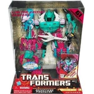 Hasbro ハスブロ トランスフォーマー フィギュア BBTS Exclusive - Decepticon Piranacon - G1 Commemorative Seacons