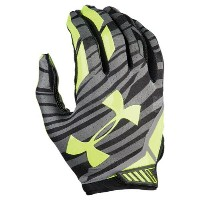 アンダーアーマー メンズ アメリカンフットボール グローブ【Under Armour Sizzle Football Gloves】Black/Black/High Visibility Yellow