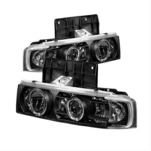 シボレー アストロ ヘッドライト Spyder Black Head Lights for Chevy Astro 95-05 / GMC Safari 95-05 5009210...