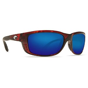 COSTA DEL MAR ZANE MEN'S TORTOISE POLARIZED BLUE MIRROR 580G SUNGLASSES