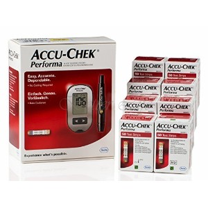 410 Accu Chek Performa Test Strips Plus Free Glucometer Kit Lancets Multiclix by Accu Chek