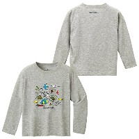 (mont-bell)モンベル WIC. L/S T キッズ キャンプ100- (ヘザーチャコール) 100 1114260