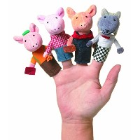 Manhattan Toy Storytime Three Little Pigs Finger Puppet Set [並行輸入品]
