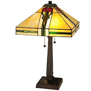 Meyda Tiffany Parker Poppy Multi-Color Table Lamp by Meyda